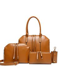 Feminino Couro Ecológico Formal / Casual / Trabalho & Escritório / Compras Conjuntos de saco