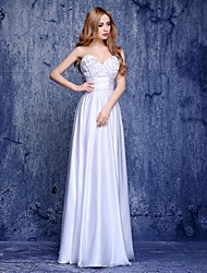 Prom / Formal Evening Dress A-line Sweetheart Floor-length Charmeuse with