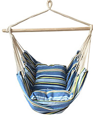 SWIFT Outdoor® Portable Cottton Blue Stripe Swing Outdoor Garden Indoor Hammock Hanging Chair