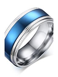 Ringe Hochzeit / Party / Alltag / Normal Schmuck Herren Statementringe 1 Stück,8 / 9 / 10 / 11 Silber