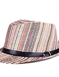 Unisex Sombrero Fedora Vintage / Fiesta / Trabajo / Casual-Primavera / Verano / Otoño / Invierno / Todas las Temporadas-Paja