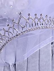 Graceful Rhinestone Heart Crown Style Head Dress Headwear
