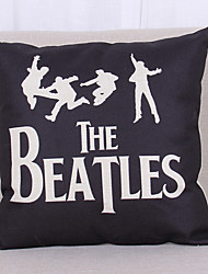 The Beatles Print Pattern Linen Pillowcase  Home Decor pillow Cover (18*18inch)
