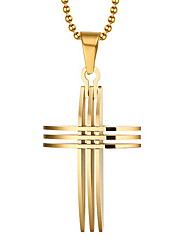 Necklace Pendant Necklaces / Pendants Jewelry Daily / Casual Cross Gold Plated Gold 1pc Gift