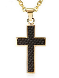 Men's Pendant Necklaces Pendants Stainless Steel Cross Cross Gold Silver Jewelry Daily Casual 1pc