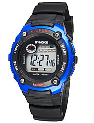 SYNOKE Kids' Sport Watch Wrist watch LCD Calendar Chronograph Water Resistant / Water Proof Alarm Luminous Digital Rubber Band Black