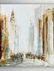 Hand Painted Oil Painting Abstract People Walking In The City with Stretched Frame 7 Wall Arts®