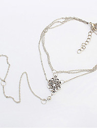 Women's European Style Simple Fashion Trend Twisted Knot Anklet with Ring