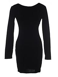 Women's Sexy Bodycon Long Sleeve Mini Dress