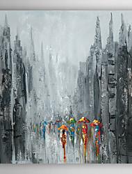 Ручная роспись маслом пейзаж пешеходы ходить по улице II с растянутыми кадра 7 стенки arts®