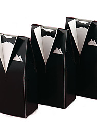 12pcs wedding favor box - Card Paper Favor Boxes Groom Tuxedo Marriage Décor Non-personalised