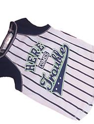Hunde T-shirt Blau Hundekleidung Sommer Zebra