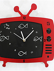 The TV Message Board Wall Clock
