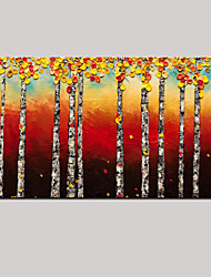 Handmade Oil painting Modern Maple Forest Landscape Wall Art with Stretched Framed Ready to Hang