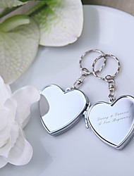 Zinc Alloy Keychain Favors-4 Piece/Set Keychains Classic Theme Personalized Silver