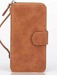 моды роскошь ультра-большой емкости многофункциональный бумажник кошелек PU кожаный чехол для телефона Iphone 6 / 6S / 6 + / 6с плюс