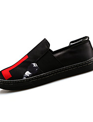 Men's Spring / Summer / Fall Canvas / Fabric Casual Flat Heel Red