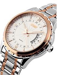 SKMEI Men's Wrist watch Quartz Japanese Quartz Calendar Water Resistant / Water Proof Stainless Steel Band Silver