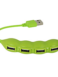 usb 2.0 4 portas / interface USB hub linda vegetal feijão 11 * 2 * 1