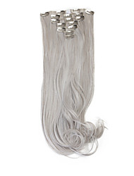 "neitsi® 20 ""140g локон волнистый клип в синтетических наращивание волос 7pcs (серый)"