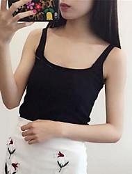 Women's Print White / Black / Gray Vest,Street chic Sleeveless