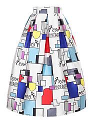 Jupes Aux femmes Maxi simple Polyester Micro-élastique