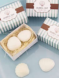 Recipient Gifts - 1 Piece/Set, Nautical theme Seashell Soaps  Baby Birthday Party Favors Wedding Favors
