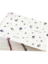envelope cartão floral (10 peças)