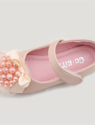 Flats Spring Fall Comfort Light Up Shoes Microfibre Outdoor Flat Heel Pink Ivory
