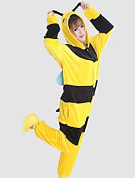 Kigurumi Pajamas Bee Leotard/Onesie Festival/Holiday Animal Sleepwear Halloween Patchwork Coral fleece Kigurumi For Unisex Halloween