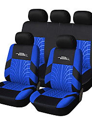 Universal Fit for Car, Truck, Suv, or Van Polyester Car Seat Cover Full Set Full Seat Cover Set (9 Pieces) Blue
