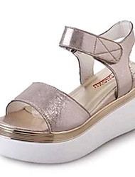 Women's Shoes Tulle / Leatherette Platform Creepers Sandals Outdoor / Casual Silver / Gold