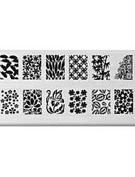 bluezoo retângulo arte impressão prego stamping (c-021)