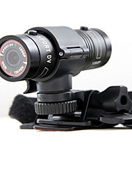 Rain Resistant Mini Flashlight Shaped 1080P HD Wide Angle Aluminum Alloy Sport DVR w/ TF - Black