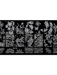 BlueZOO Rectangle Forest Garden Nail Art Stamping (BC-16)
