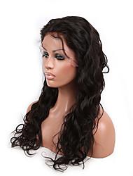 evawigs instock peruca dianteira cor 1b glueless rendas 8-26 polegadas peruano virgem do cabelo peruca natureza ondulatória peruca para