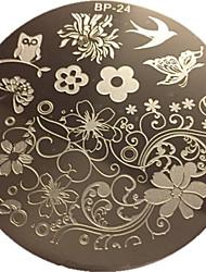 charmant clou printemps plaque d'image de modèle d'art de timbre clou plaque d'estampage né joli BP24