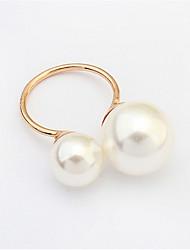Ringe Damen Künstliche Perle Legierung Legierung Verstellbar Gold