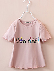 BK  Children Girl Summer Spring Summer Clothing Baby Leisure Sport Short Sleeve T- Shirt Kids Tops Tees