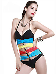 Damen Bikini / Einteiler - Ausgeschnitten Nylon / Elasthan Halfter