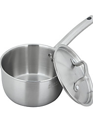 304  Stainless Steel Milk Pot 16cm  With Five Layers Of Steel(2-4 People To Used)Cooker Gas Stove Universal