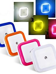 0.5 W синий / красный / желтый / Натуральный белый AC Водонепроницаемый / Сенсор Ночные светильники AC 220-240 V Пластик