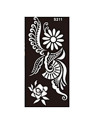 1pc Henna Airbrush Tattoo Schablone Frauen Körperkunst Rose Sonnenblume temporäre Tätowierung Tinte Sticker Kit s211