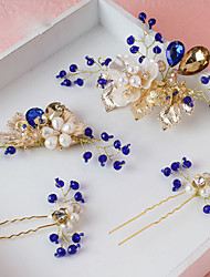 Women's Alloy / Imitation Pearl Headpiece-Wedding / Special Occasion Hair Pin 4 Pieces