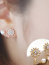Earring Flower Stud Earrings Jewelry Women Fashion Daily / Casual Alloy 1 pair Gold / Silver