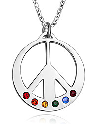 Necklace Pendant Necklaces / Pendants Jewelry Daily / Casual Fashion Titanium Steel Silver 1pc Gift