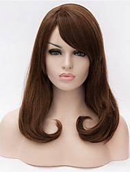 The New  Wig 16 Inch Brown Hair Wigs in Partial Share Button