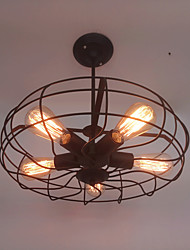 Retro Contracted Wrought Iron Pendant Lights Living Room Restaurant,Cafe ,Game Room,Study Room/Office Loft light Fixture