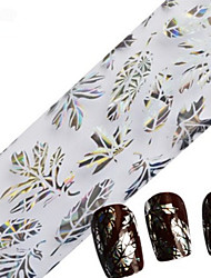 1pcs 100cmx4cm Glitzer-Nagelfolienaufkleber schöne Spitzeblumenblattfeder Bild Nageldekorationen DIY Schönheit stzxk16-20