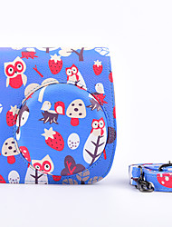 Instax Case Bag Case with Shoulder Strap and Pocket (Deer) for Fujifilm Mini8 Mini8s Mini8+ Blue Owl